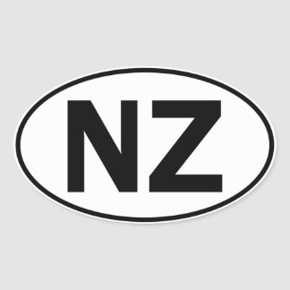 NZ Oval Identity Sign Oval Sticker