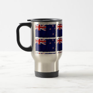 NZ Patriotic Flag of New Zealand for Kiwis 15 Oz Stainless Steel Travel Mug