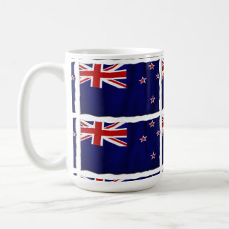 NZ Patriotic Flag of New Zealand for Kiwis Classic White Coffee Mug