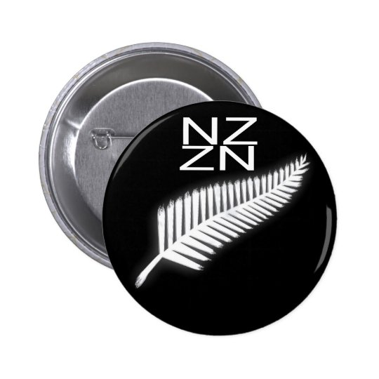 NZ Silver Fern National Emblem Patriotic Button