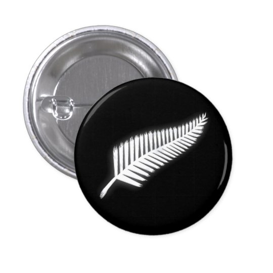 NZ Silver Fern National Emblem Patriotic Button