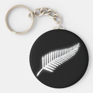 NZ Silver Fern New Zealand Patriotic Keychain