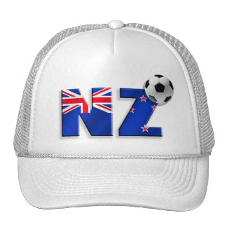 NZ soccer ball gifts flag of New Zealand style Trucker Hat
