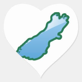 NZ South island Heart Sticker