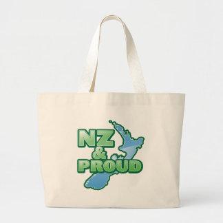 NZ y KIWI ORGULLOSO Nueva Zelanda Bolsa Tela Grande