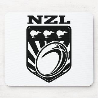 nzl de Nueva Zelanda del escudo del kiwi de la bol Tapetes De Ratón