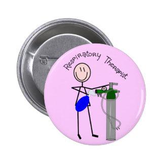 O2 del terapeuta respiratorio y diseño del bolso d pin