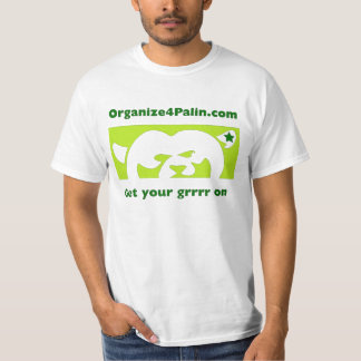 O4P Light Green (large logo) T-shirt