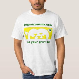 O4P Yellow w/green (Large Logo) - T-Shirt