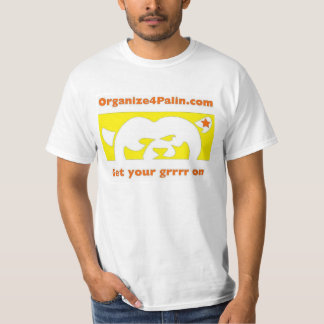 O4P Yellow w/orange (Large Logo) T-Shirt