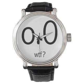o.0 wtf? Black Wrist Watch