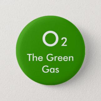 O, 2, The Green Gas - Customized Button