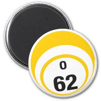 O 62 bingo ball fridge magnet