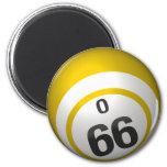 O 66 bingo ball magnet