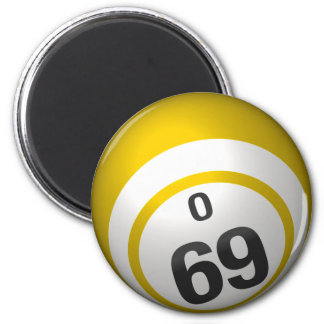 O 69 bingo ball magnet