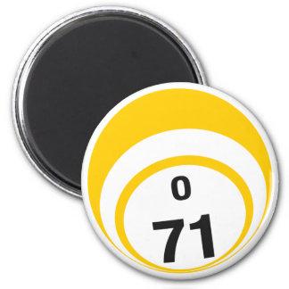 O 71 bingo ball fridge magnet