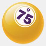 O 75 BINGO BALL STICKERS