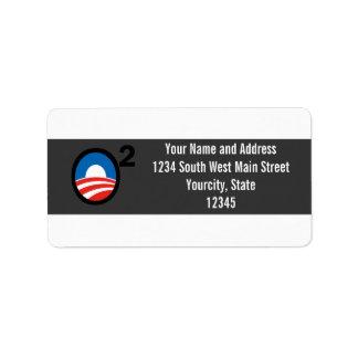 O ajustó el término de Obama en segundo lugar Etiqueta De Dirección