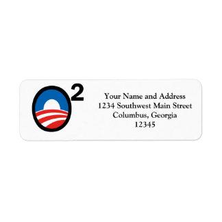 O ajustó el término de Obama en segundo lugar Etiqueta De Remite