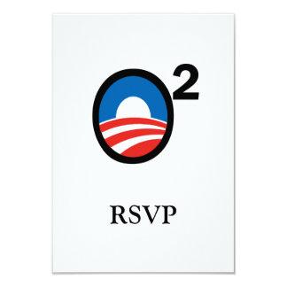 """O ajustó el término de Obama en segundo lugar Invitación 3.5"""" X 5"""""""