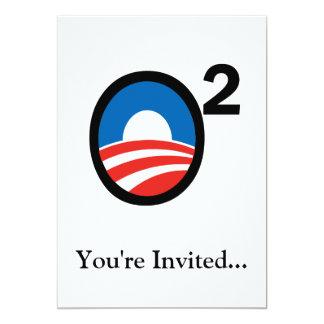 """O ajustó el término de Obama en segundo lugar Invitación 5"""" X 7"""""""