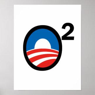 O ajustó el término de Obama en segundo lugar Poster