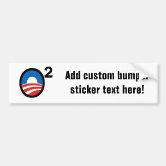 O ajustó el término de Obama en segundo lugar Pegatina Para Auto