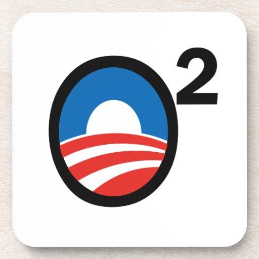 O ajustó el término de Obama en segundo lugar Posavasos De Bebidas