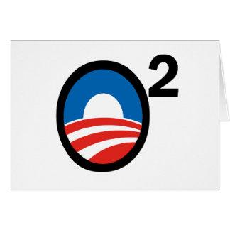 O ajustó el término de Obama en segundo lugar Tarjeta De Felicitación