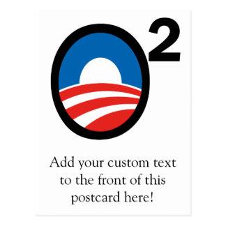 O ajustó el término de Obama en segundo lugar Tarjeta Postal