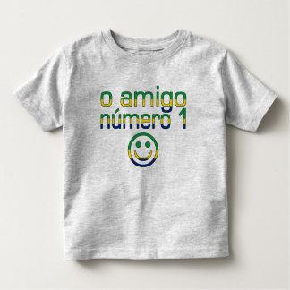 O Amigo Número 1 in Brazilian Flag Colors Toddler T-shirt