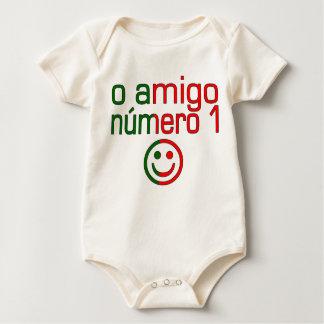 O Amigo Número 1 in Portuguese Flag Colors Baby Bodysuit