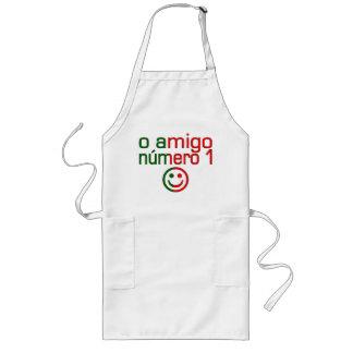 O Amigo Número 1 in Portuguese Flag Colors Long Apron
