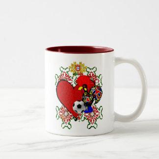 O Amor A Portugal - Selecção das Quinas Two-Tone Coffee Mug