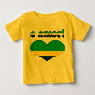 O Amor! - Love in Brazilian Valentine's Day Baby T-Shirt