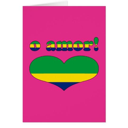 O Amor! - Love in Brazilian Valentine's Day Card