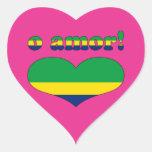 O Amor! - Love in Brazilian Valentine's Day Stickers