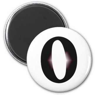 O And/Or Whole Musical Note Represented 2 Inch Round Magnet