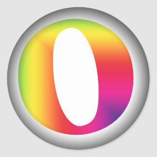 O And/Or Whole Musical Note Represented Classic Round Sticker