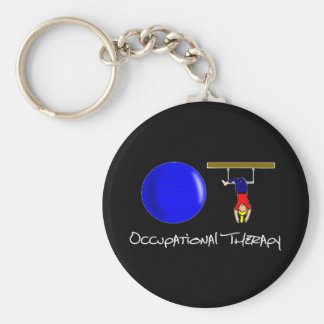 O and T Basic Round Button Keychain