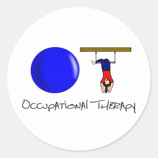 O and T Round Sticker