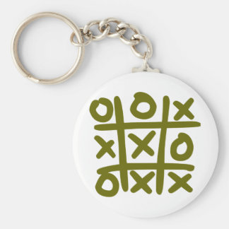 o and x basic round button keychain