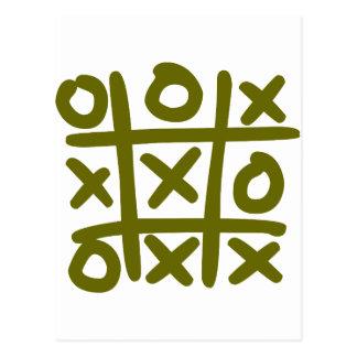 o and x postcard