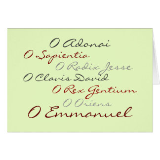 O Antiphons (script) Cards