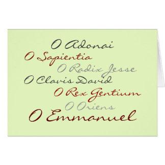 O Antiphons (script) Greeting Card