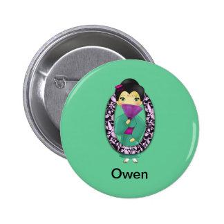 O Asian Girl Pinback Buttons