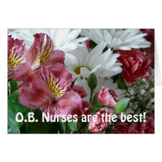 O.B. ¡Las enfermeras son el mejor! - Ramo floral Tarjeta De Felicitación