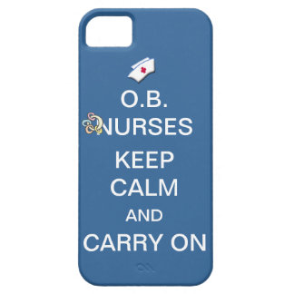 O.B. Nurses Keep Calm+Rattle /Summer Sky Blue iPhone SE/5/5s Case