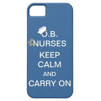 O.B. Nurses Keep Calm+Rattle /Summer Sky Blue iPhone SE/5/5s Case