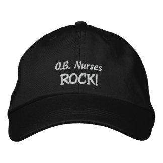 O B Nurses Rock Embroidered Baseball Cap